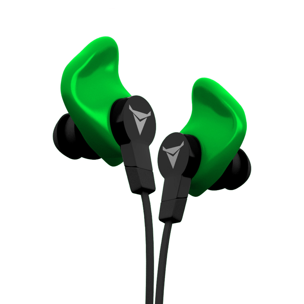 Decibullz|客製化運動耳機—綠色