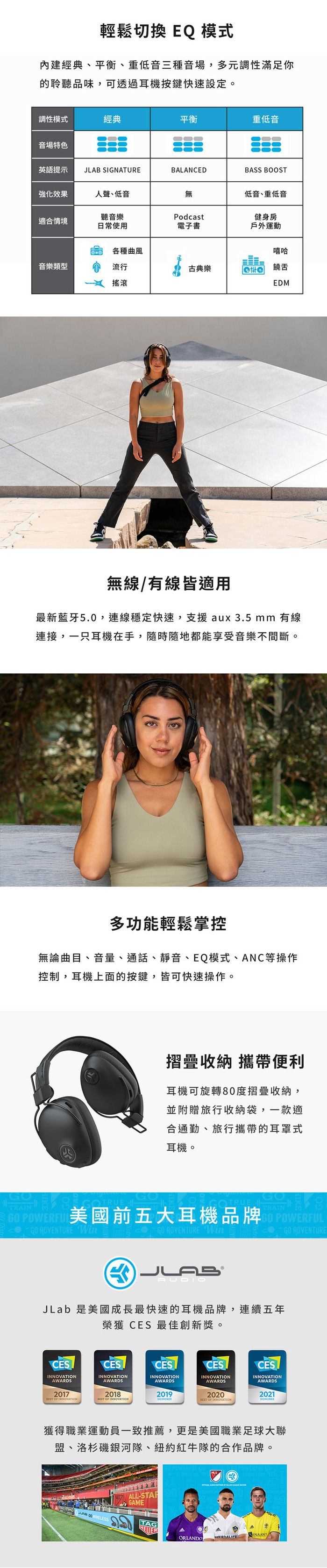 JLab|STUDIO PRO ANC 無線耳罩式降噪藍牙耳機