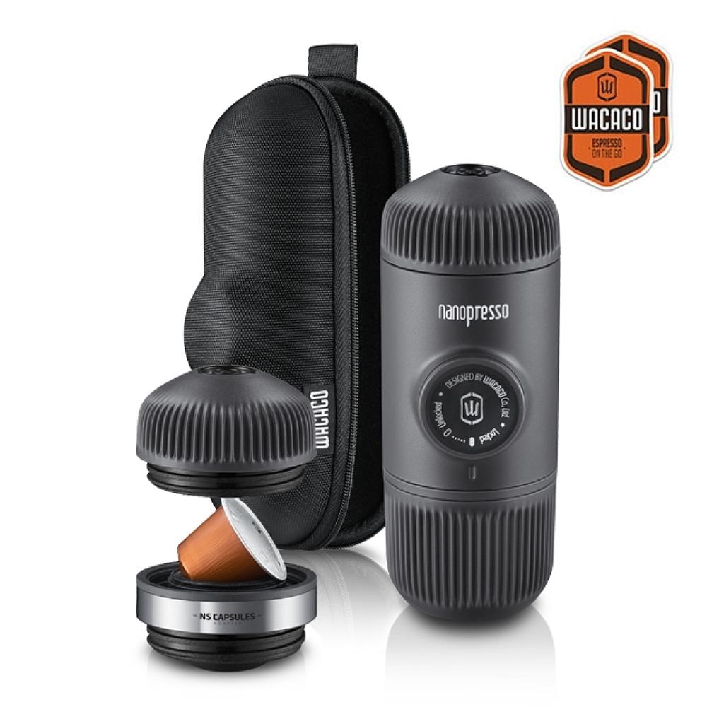 WACACO|Nanopresso 隨身咖啡機 + 咖啡膠囊套組 - 馬上變身 膠囊咖啡機
