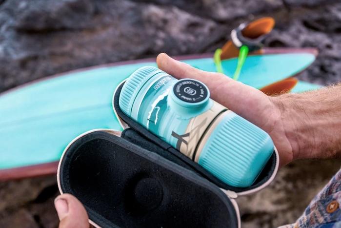 WACACO NANOPRESSO旅途 夏暑破浪 隨身咖啡機(含硬殼保護套)