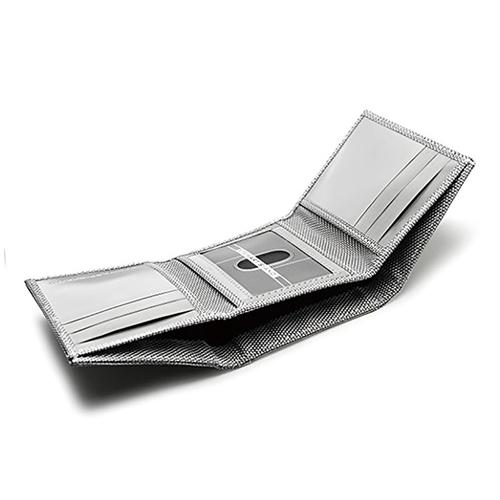 StewartStand 不鏽鋼RFID防盜三折男夾 Herringbone (ID)