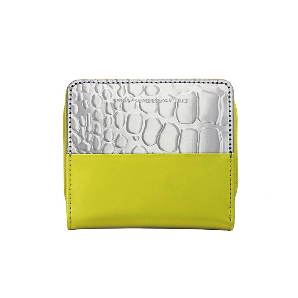 StewartStand|不銹鋼RFID防盜女用短夾 Yellow