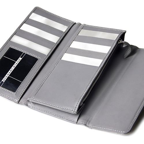 StewartStand|不鏽鋼RFID防盜女用長夾 Grey