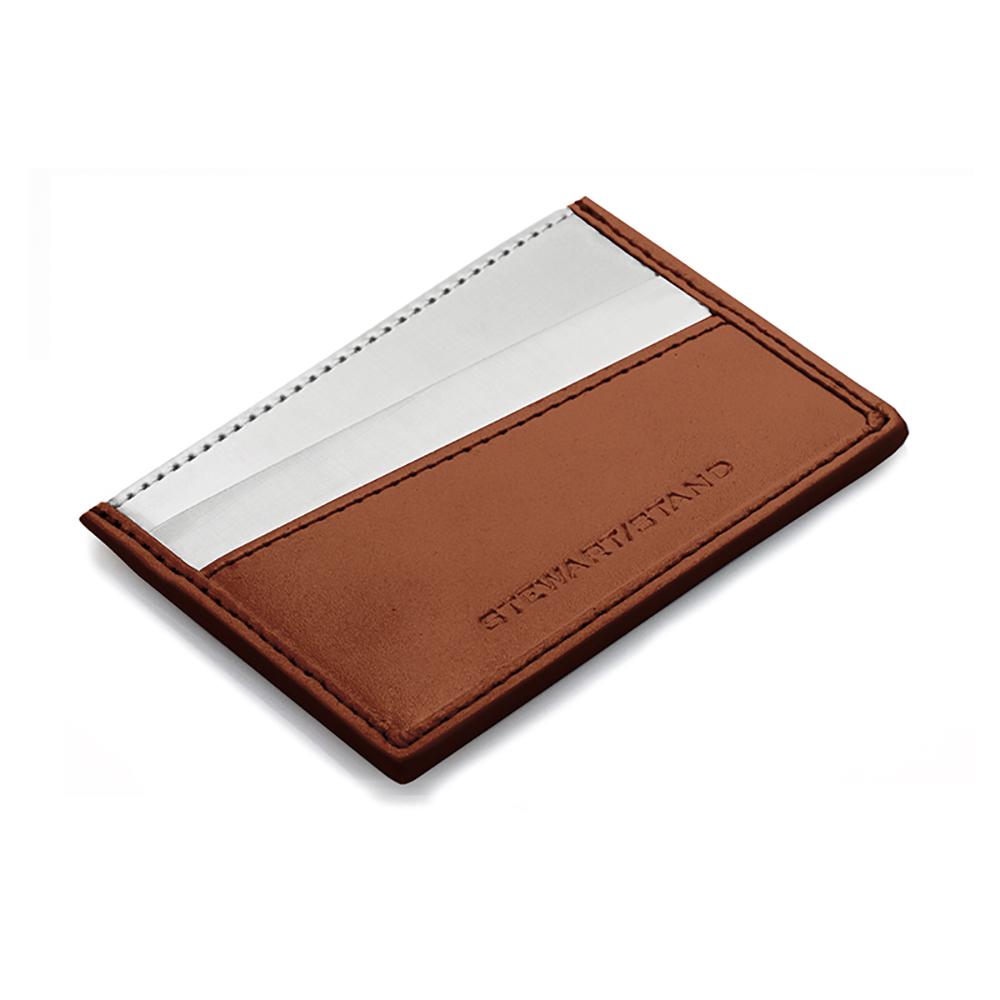 StewartStand|不鏽鋼RFID防盜名片夾 Card Case, Tan
