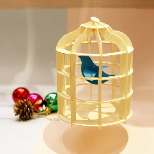 韓國 TUNAPAPER|3D 紙雕掛飾 Bird Case