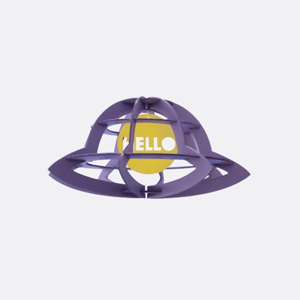 韓國 TUNAPAPER|3D 紙雕掛飾 UFO