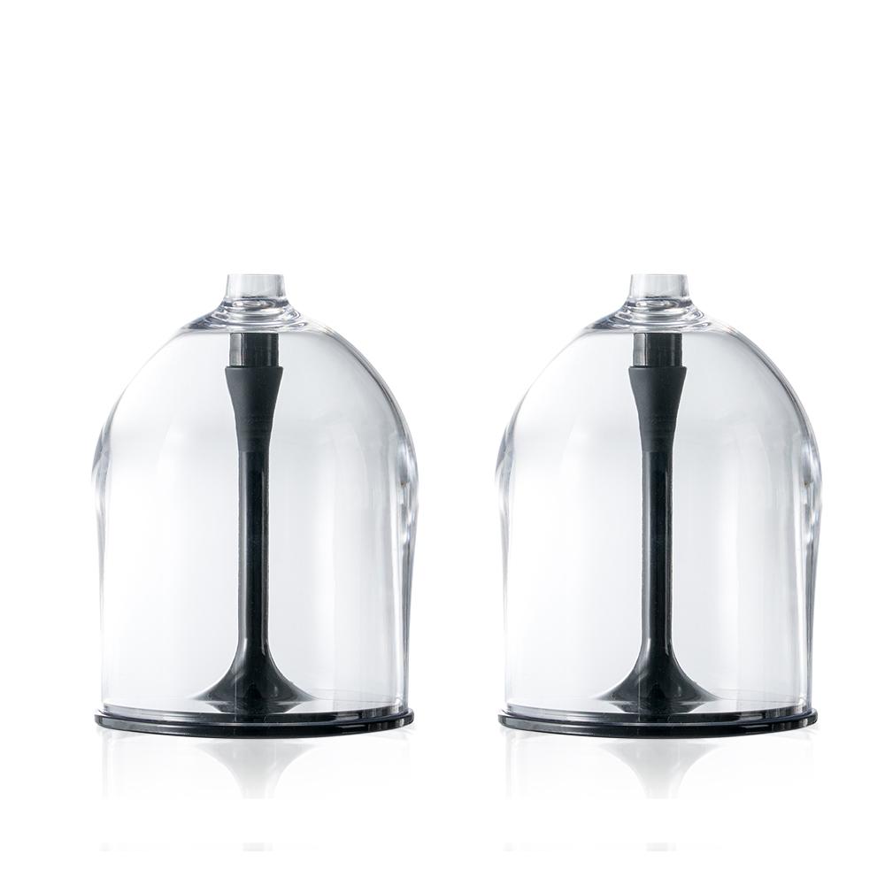 JoyRuby|BOSO 攜帶式摺疊紅酒杯(附收納袋)-黑*2