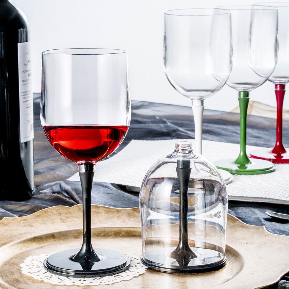 JoyRuby|BOSO 攜帶式摺疊紅酒杯 (新春限定多彩4入組)