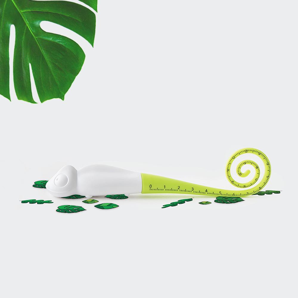 TOYOYO|變色龍短尺造型原子筆 - 草綠