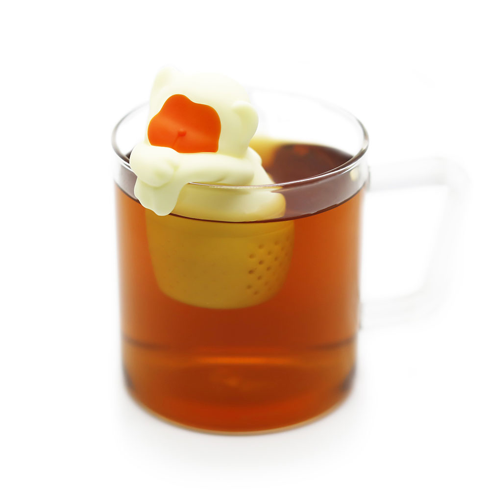 TOYOYO|溫泉猴造型泡茶器 - 象牙黃