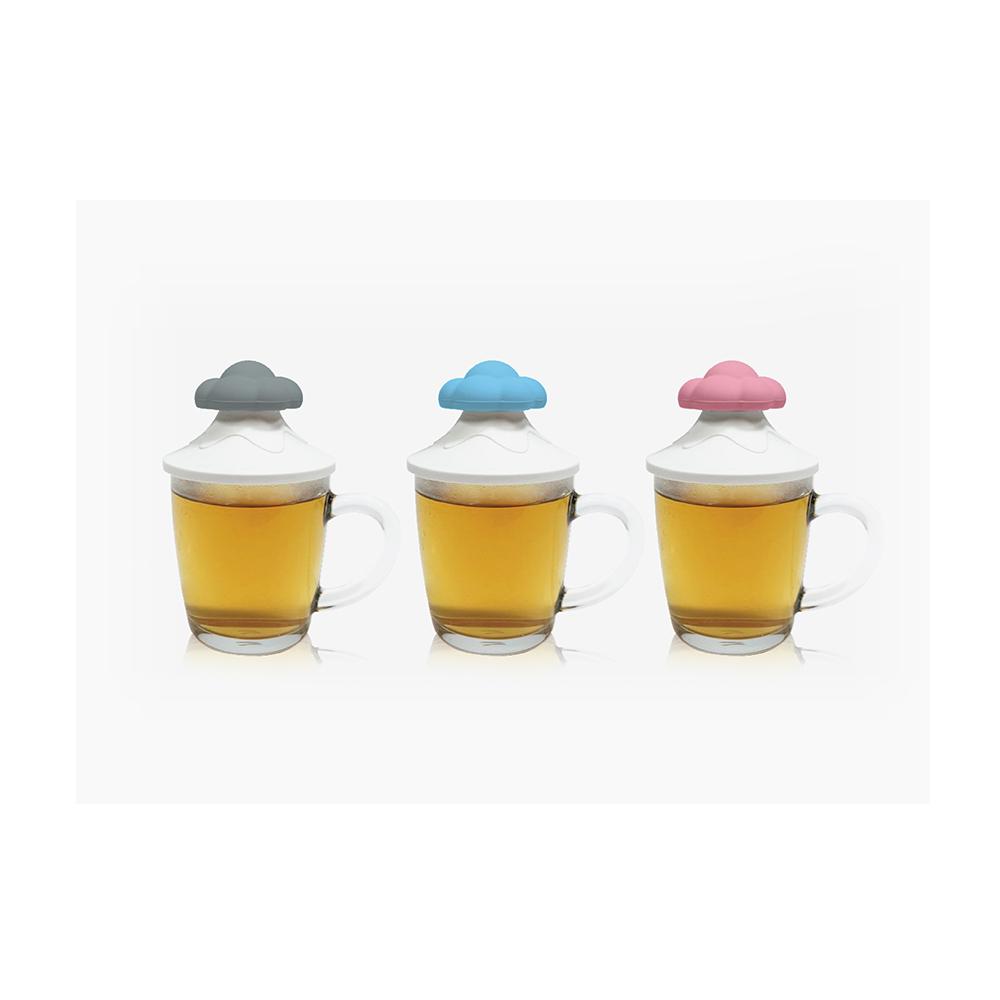 TOYOYO 雲朵造型感溫杯罩 - 粉紅雲
