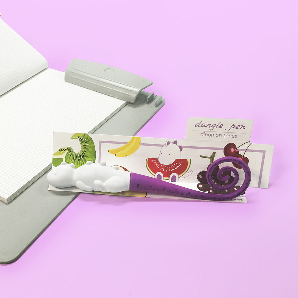 TOYOYO|恐龍短尺造型原子筆 - 深紫