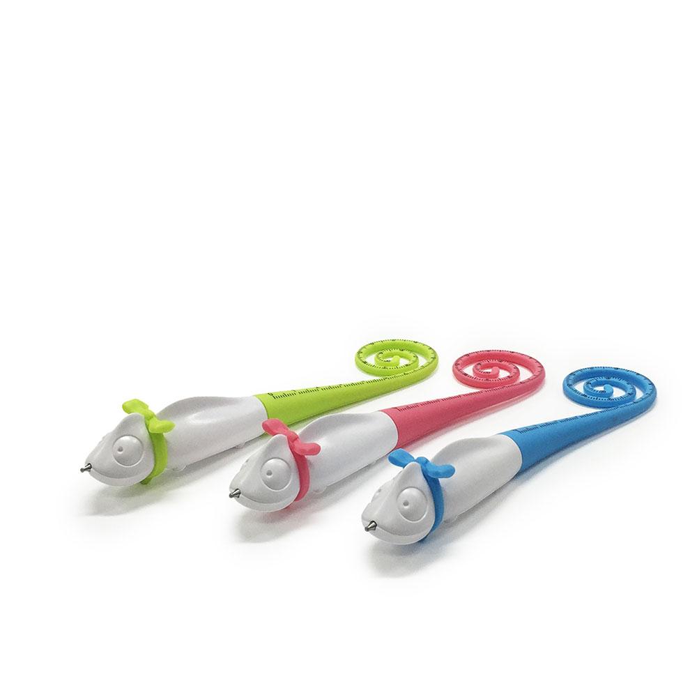 TOYOYO|變色龍攜帶式短尺造型原子筆 - 粉紅