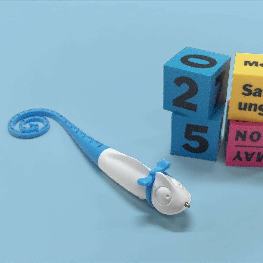 TOYOYO|變色龍攜帶式短尺造型原子筆 - 水藍