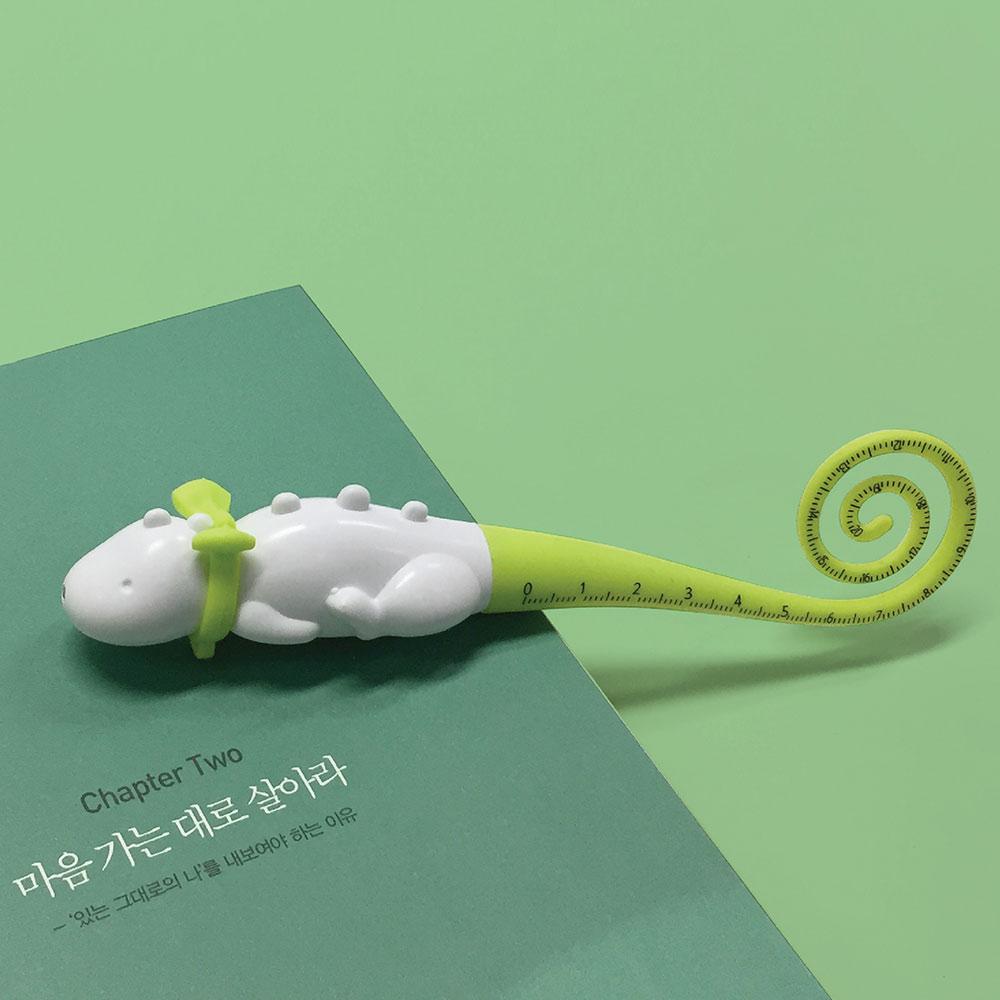 TOYOYO 恐龍攜帶式短尺造型原子筆 - 草綠