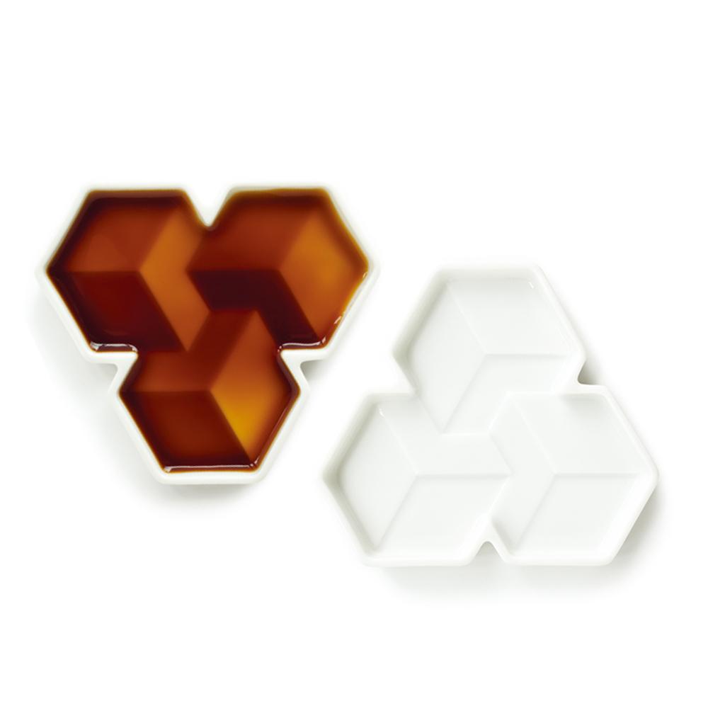 DUNCAN|3D立體陶瓷醬油碟-2入(方塊)