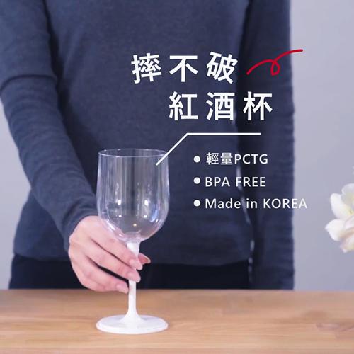 JoyRuby 攜帶式摺疊紅酒杯四入組-附硬殼 (透明*4)