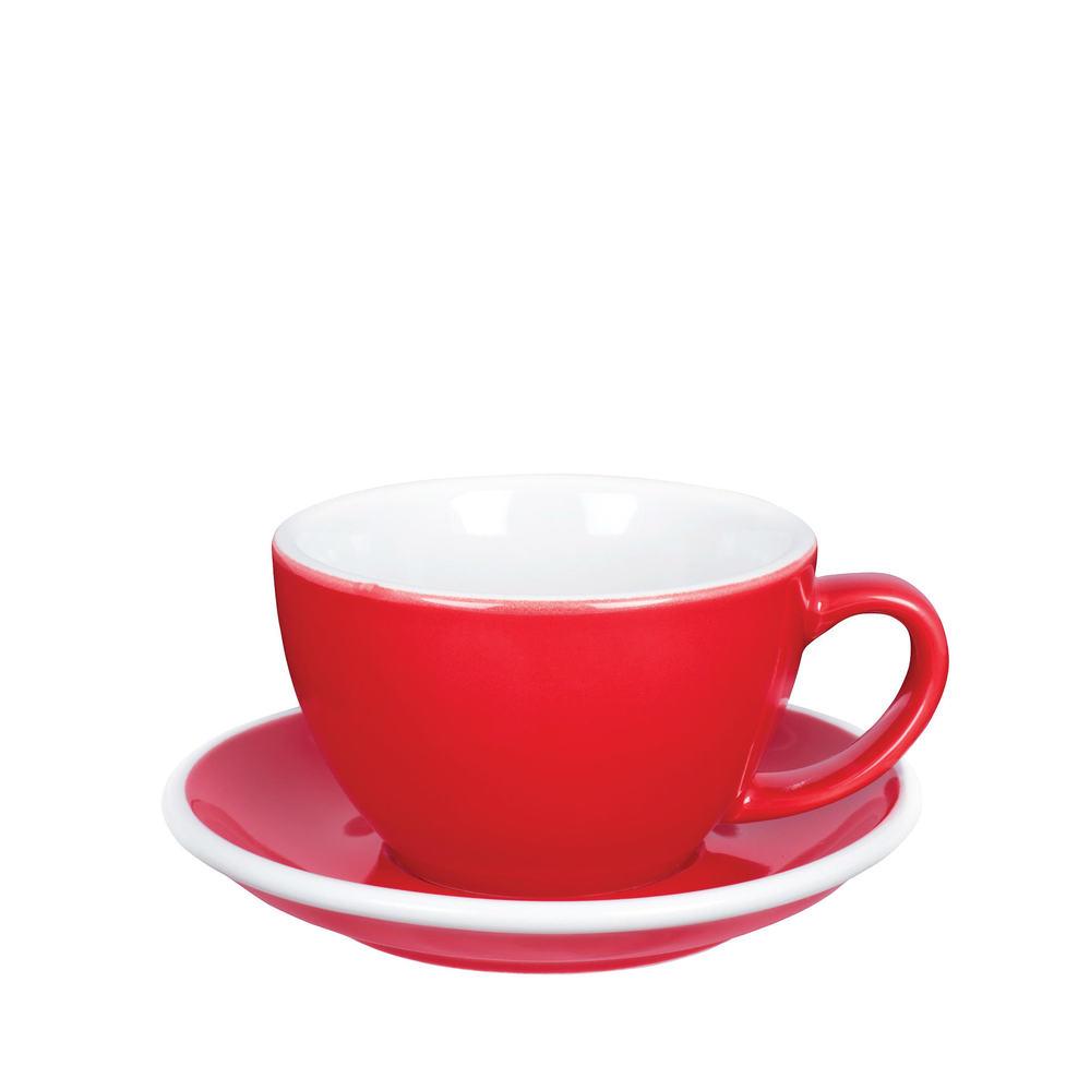 紐西蘭ACME & Co.|圓弧形拿鐵咖啡杯組 - 280ml 紅