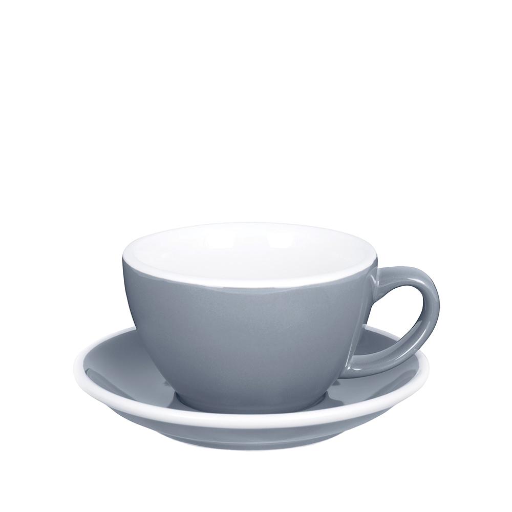 紐西蘭Acme & Co. 圓弧形拿鐵咖啡杯組 - 280ml 灰