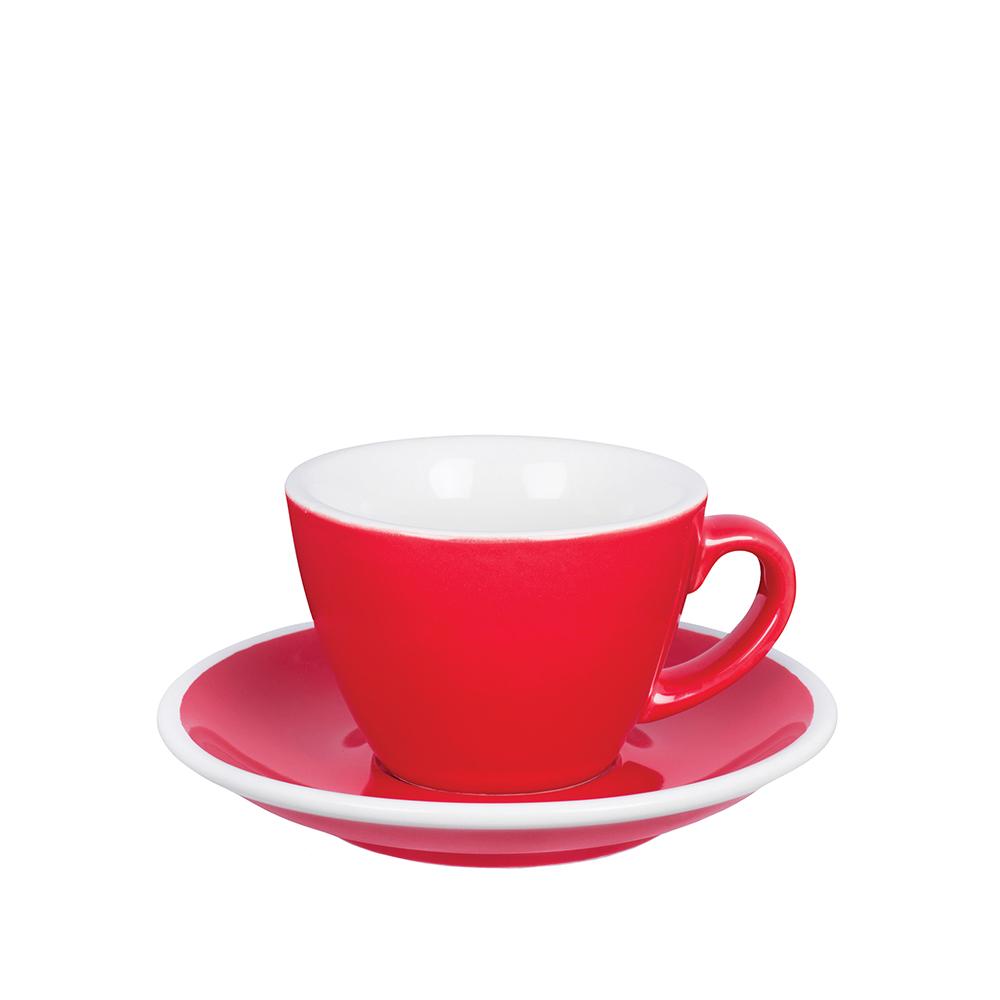 紐西蘭Acme & Co.|圓弧形小白咖啡杯組 - 150ml 紅