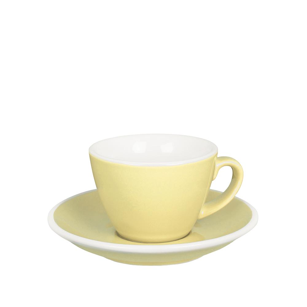 紐西蘭Acme & Co.|圓弧形小白咖啡杯組 - 150ml 黃
