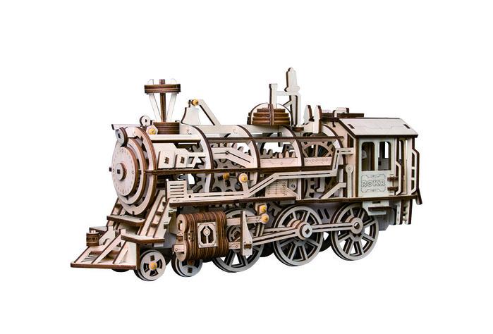 ROBOTIME|DIY木製自走模型-火車頭Locomotive