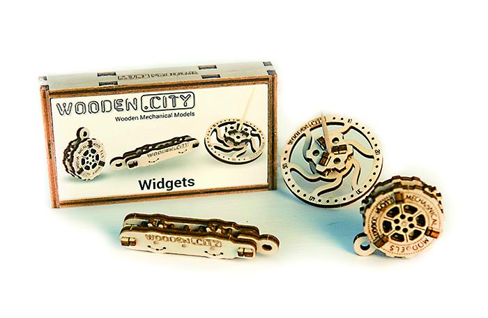 WOODEN.CITY|陀螺 鑰匙圈三件式禮盒 Widgets