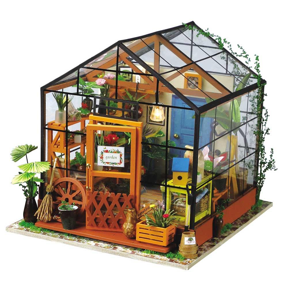 ROBOTIME|DIY木製小屋-凱西花房Cathy's Flower House