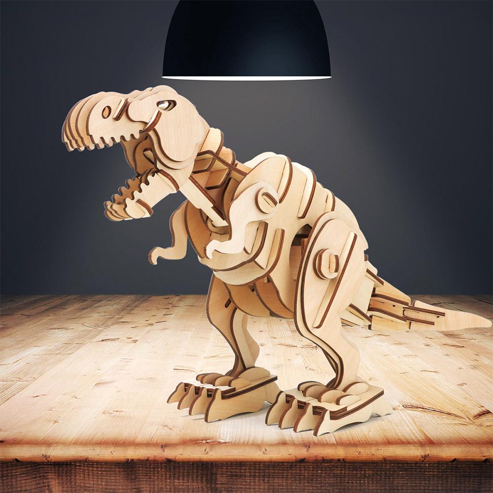ROBOTIME|木製聲控恐龍-暴龍T-Rex