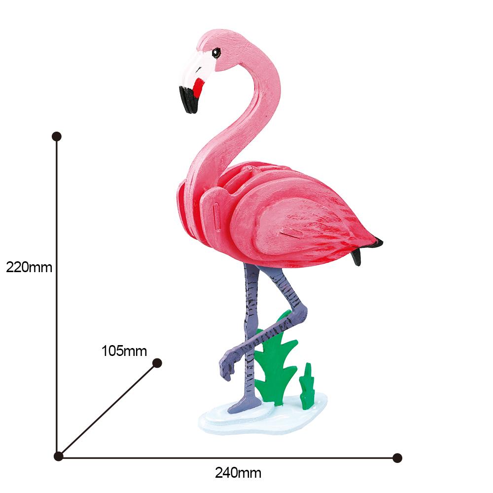 ROBOTIME|立體木質彩繪模型-紅鶴Flamingo