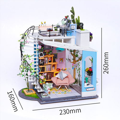 ROBOTIME DIY木製小屋-朵拉的馬卡龍天台 Dora's LOFT