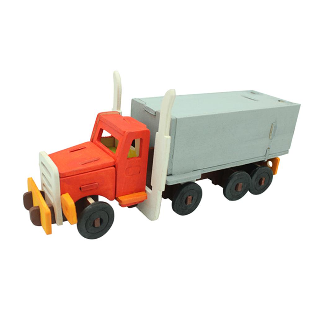 ROBOTIME|立體木質彩繪模型-卡車Truck