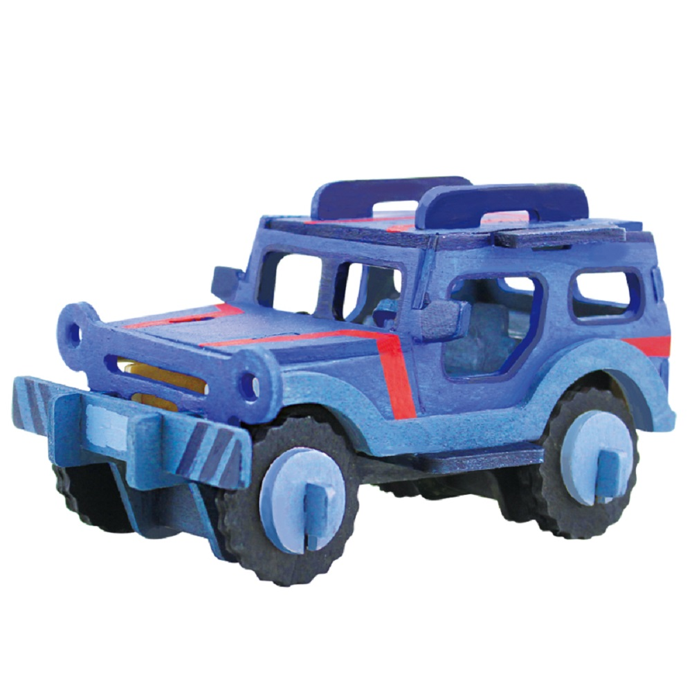 ROBOTIME|立體木質彩繪模型-吉普車Jeep
