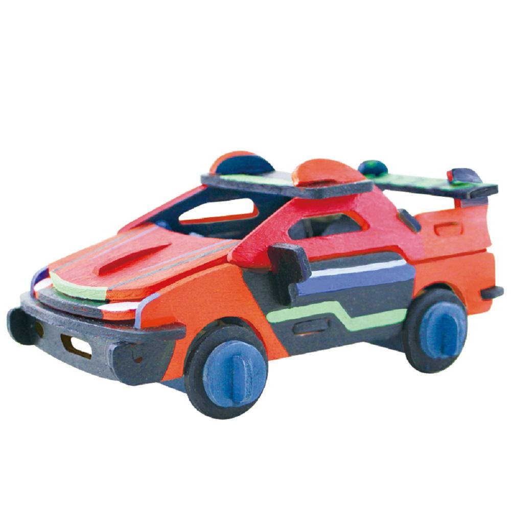 ROBOTIME|立體木質彩繪模型-賽車Racing Car