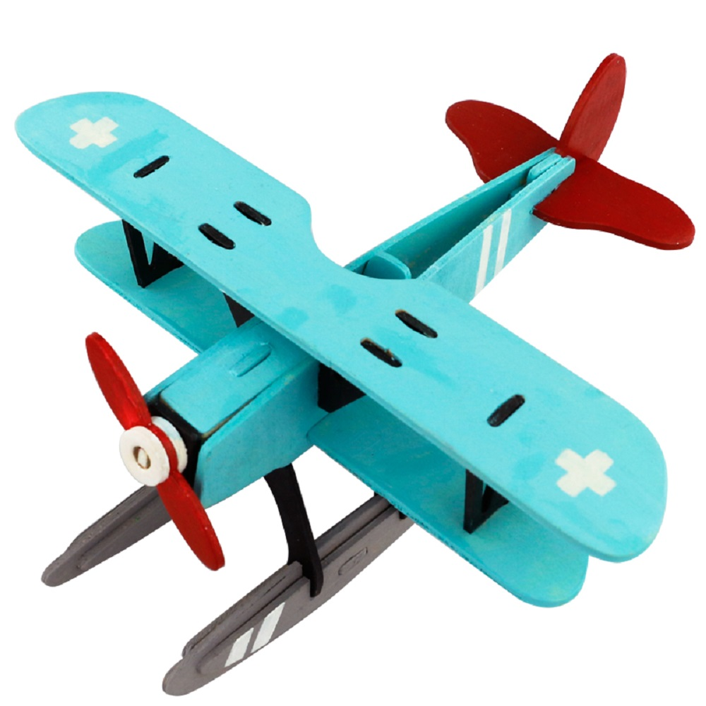 ROBOTIME 立體木質彩繪模型-水上飛機Hydroplane