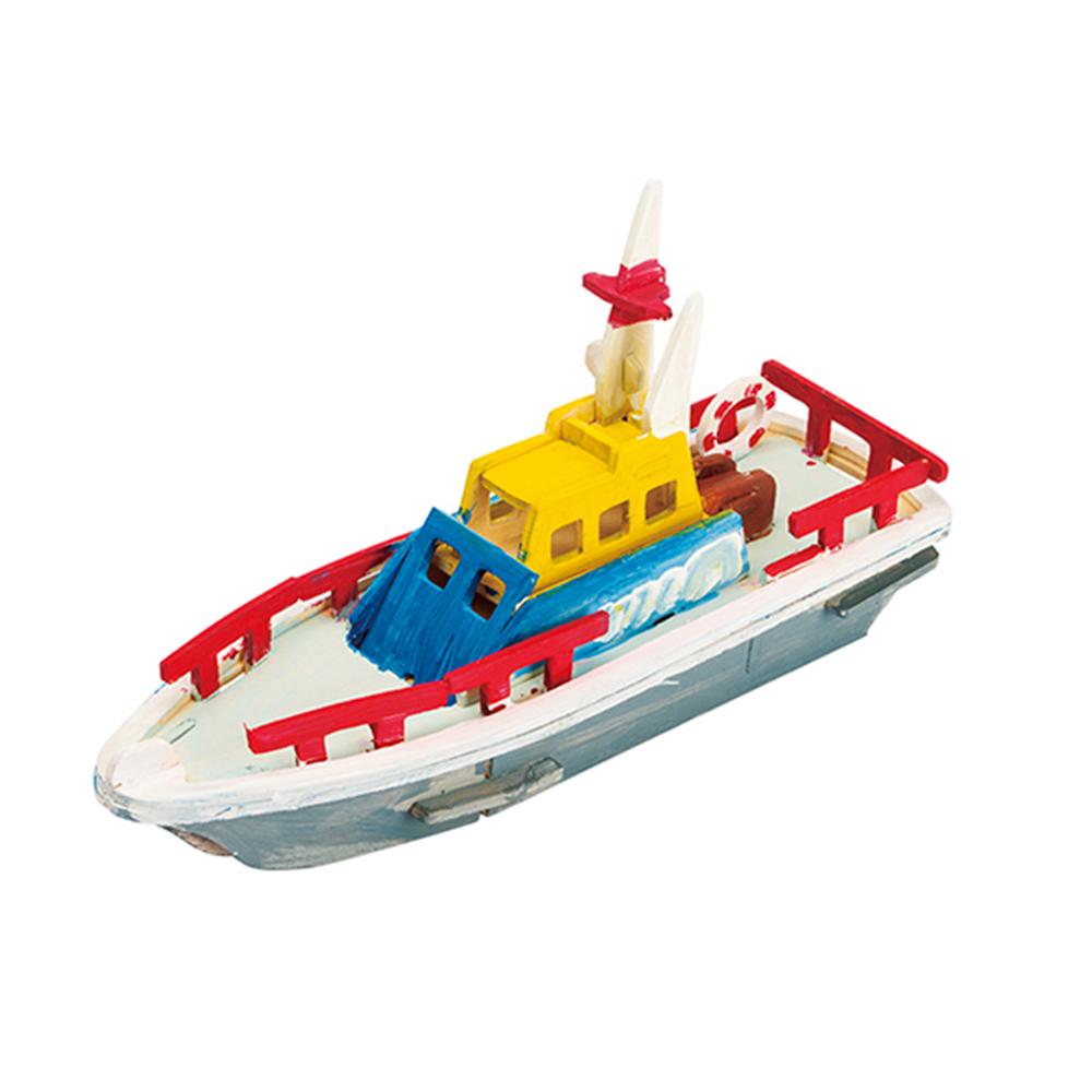 ROBOTIME 立體木質彩繪模型-救生艇Lifeboat
