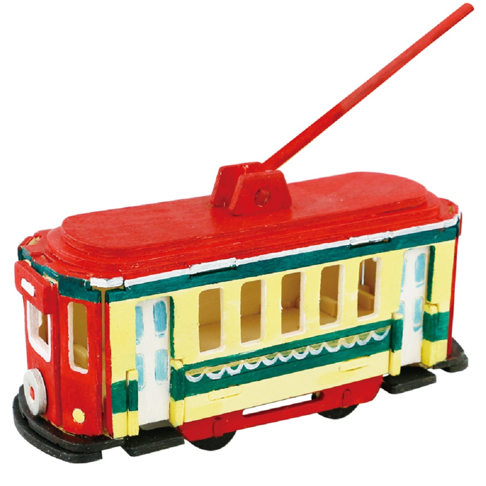 ROBOTIME|立體木質彩繪模型-電車Trolley