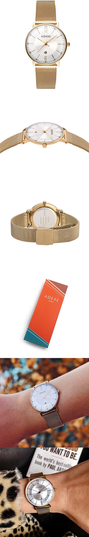 (複製)ADEXE|英國時尚手錶 MAC日期顯示系列 銀錶盤x銀錶框米蘭革錶帶33mm 2043B-05