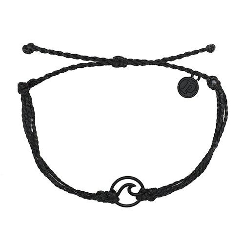 (複製)Pura Vida|美國手工 WAVE 黑色波浪綴飾 灰色臘線可調式手鍊衝浪海灘防水手繩