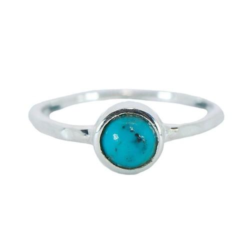 Pura Vida | 美國手工 波西米亞風綠松石 純銀戒指