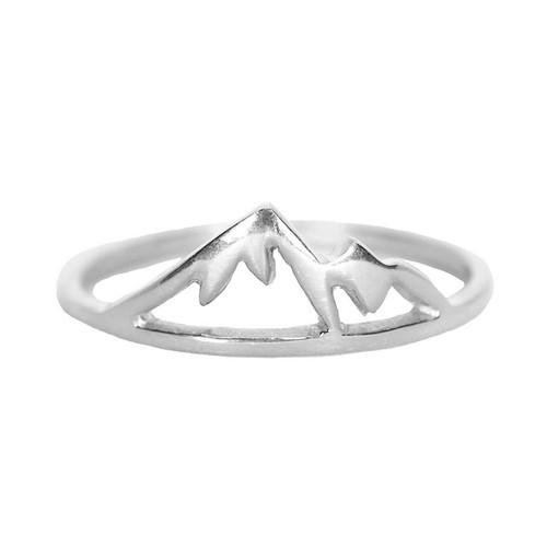 Pura Vida | 美國手工 銀色內華達山造型純銀戒指