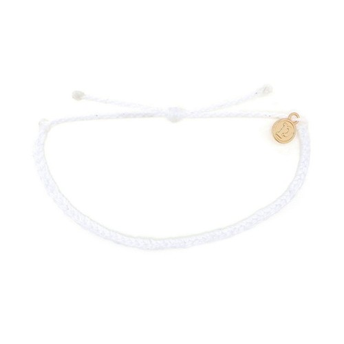 Pura Vida | 美國手工Mini Braided Solid 白色迷你粗線手鍊