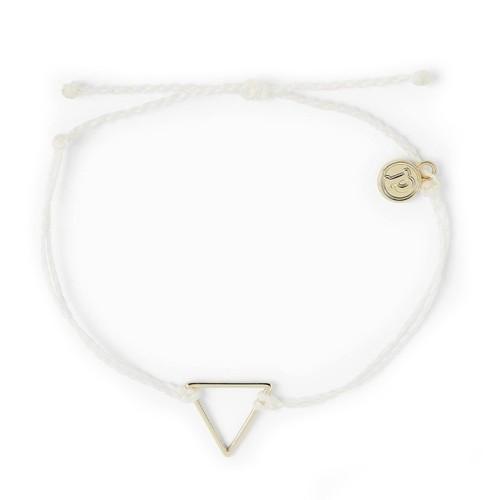 Pura Vida | 美國手工 金色三角形 白色臘線衝浪手鍊手環