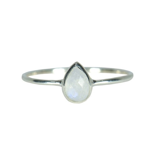 Pura Vida | 美國手工 月光石淚滴造型純銀戒指