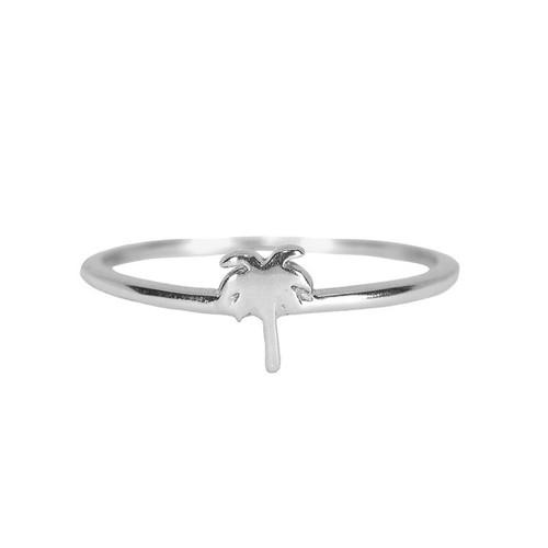 Pura Vida   美國手工 魅力棕櫚造型銀色戒指