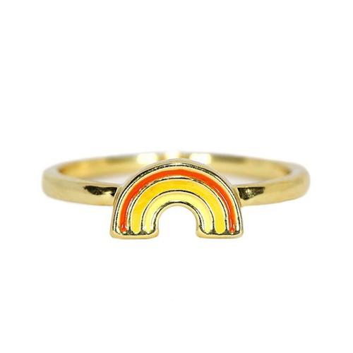 Pura Vida   美國手工 Rainbow彩虹造型金色戒指