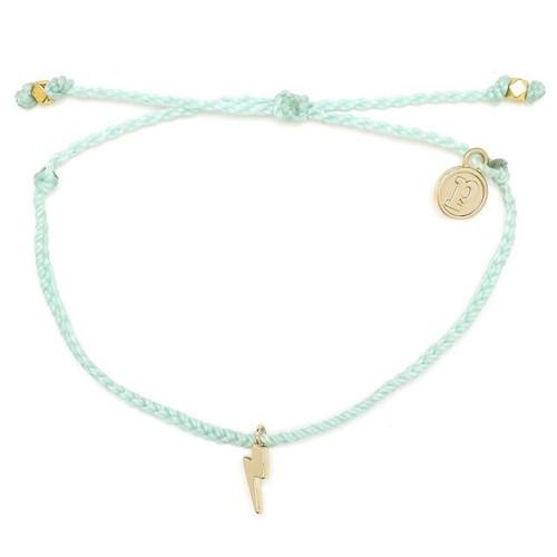 Pura Vida | 美國手工 金色閃電 水藍綠臘線衝浪手鍊手環