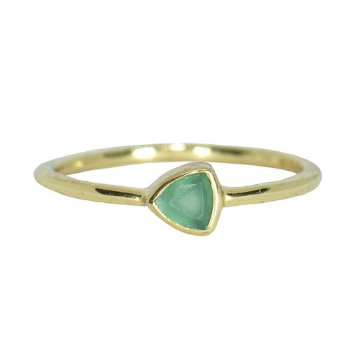 Pura Vida | 美國手工 玉髓石三角造型金色戒指