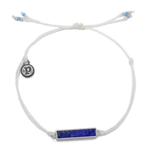 Pura Vida | 美國手工 青光石長形墜飾 白色臘線衝浪手鍊手環
