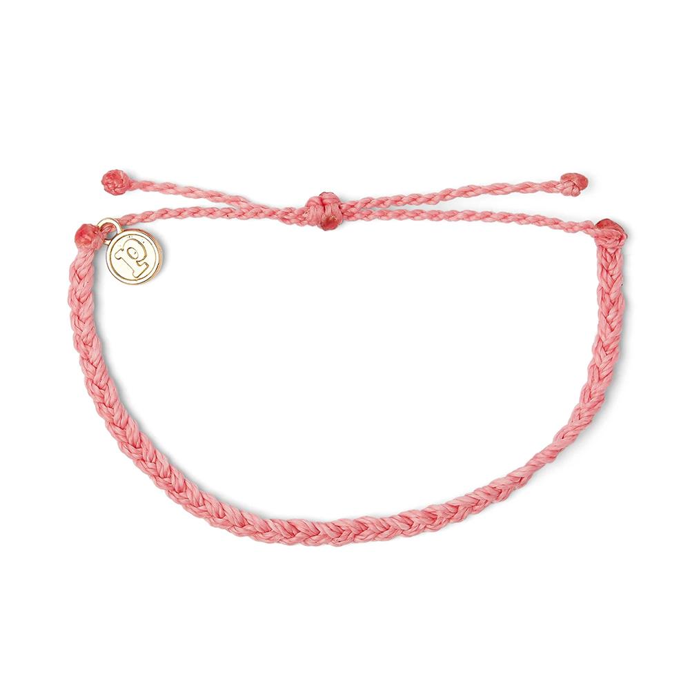 Pura Vida|美國手工 PETAL PINK 花瓣粉紅色迷你粗線手鍊